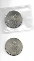 1988 Marshall Islands 5 Space Shuttle Discovery Coins 2 Coins