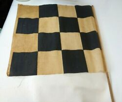 1949 Oct 19th Dated Checkered Flag Racing Signed Winners Flag