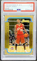 Lebron James 2003-04 Bowman Rookies And Stars Gold 123 Rookie Rc Psa 7