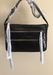 Nwt Women's Hobo International Leather Crossbody Bag Purse Mission Black $79.99