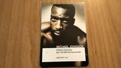 Michael Johnson Rare Nike Precision Running Promo Rookie Card Rc Extremely Rare
