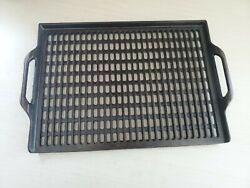 Vintage Lodge Cast Iron Bbq Grill Grate Bbg2 Grill-great Rare/discontinued