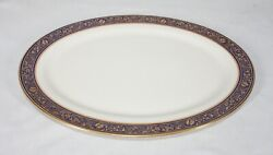 Rare Lenox China Discontinued Barclay Pattern 18 Large Oval Platter New