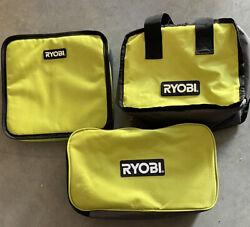 RYOBI TOTE BAGS 3 Small To Medium Size 1 Of Each Pictured $19.50