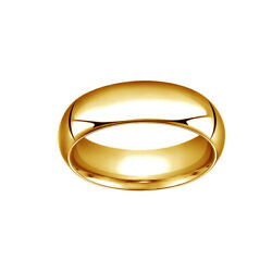 14k Yellow Gold 7mm High Dome Heavy Comfort-fit Wedding Band Ring Size 9