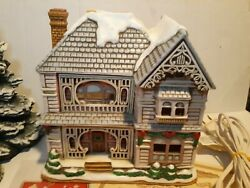 Lefton Colonial Christmas Village mark Hall Dated 1992
