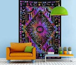 Psychedelic Celestial Sun Moon Tapestry Planet Bohemian Tapestry Wall Hanging Do