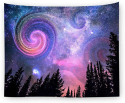 GeeRic Tapestry Starry Night Tapestry Wall Hanging Mandala Bohemian Tapestry Nig