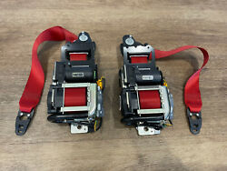 Mercedes Benz C63s Red Front Seat Belts, W205 Edition 1, 630146400, 630146300
