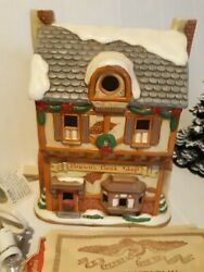 Lefton Colonial Christmas Village Brownand039s Bookstore 1993 Geo Z