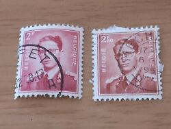 Belgium Stamps 2f And 2f50 Used Stamps Stamp Collecting Belgique Belgie