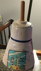 Super Rare Vintage Cape Kennedy Space Age Nasa Capital Pottery Barbeque Mop