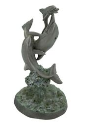 Dolphin Figurine By Sedlow Masterworks Fine Pewter Gift 3 Dolphins Frolicking