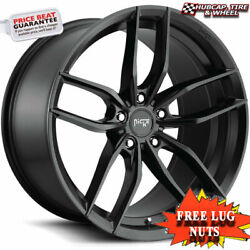 Niche M203 Vosso Satin Black 20x10.5 Custom Wheels Rims Set 4 Free Shipping