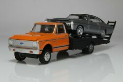 Chevy C30 Ramp Flatbed Tow Truck And Chevrolet Impala Ss 164 Scale Diecast Model