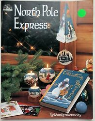 North Pole Express Painting Book Marilyn Kennedy Awesome Condition Pre Owned