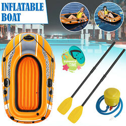 Bestway Inflatable Kondor 1000 Hydro-force Dinghy Rubber Boat Oars With Air Pump