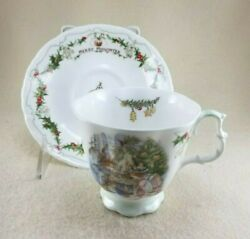 Royal Doulton Merry Midwinter Brambly Hedge Tea Cup And Saucer - 1994- Rare