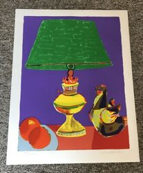 John Grillo Pajaro Green Lamp Signed And Numbered 198 Of 200, 26 By 34 1980