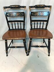 Hitchcock Chair Co Black/harvest Inn Side Chairs Used Hitchcock Dot Com