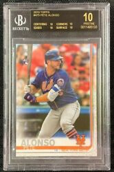 Pete Alonso 2019 Topps 475 Rookie Logo Bgs Pristine 10 Black Label Mets
