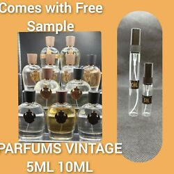 Parfums Vintage 10ml And 5ml Samples. Comes With Free Sample And Travel Bag.