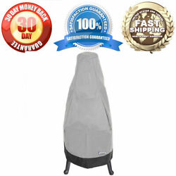 Waterproof Outdoor Round Base Chiminea Winter Cover - Fits Up To 65 H - Grey