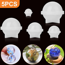 Silicone Resin Casting Mold DIY Round Epoxy Mould Craft Jewelly Making Tool Kit