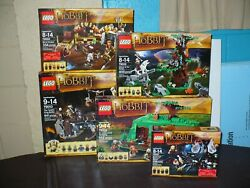 Lego Lord Ring Hobbit 79001 79002 79003 004 79010 Complete Set Fellowship Figure