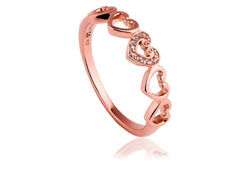 New Welsh Clogau 9ct Rose Gold Affinity Heart Ring Andpound130 Off Size P