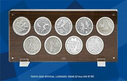 Tokyo 2020 Olympic Games 1000 Yen Commemorative Sv Proof Coin Complete Set Rare