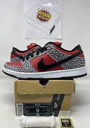 Nike Sb Dunk Low Supreme Dunk Red Cement Ds 9