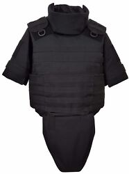 Black Size L Full Body Armor Plate Carrier Molle Vest 3a Kevlarr Included