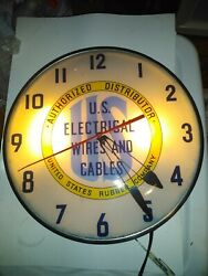 Vintage Wall Clock Us Electrical Wires And Cables United States Rubber...