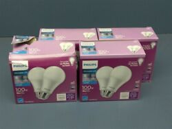 8 Bulbs Philips Dimmable 100w Equivalent Daylight A19 Medium Led Light