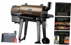Zpg-450a 2020 Upgrade Wood Pellet Grill And Smoker 6 In 1 Bbq 450 Sq In Bronze