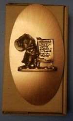 Vintage Copperama By Victor Mouse Cheese Wall Plaque Hanging New