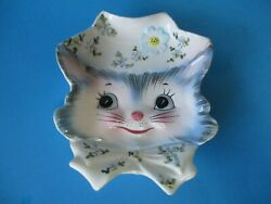 Lefton Rare Vintage Miss Priss Spoon Rest See Condition No Chips