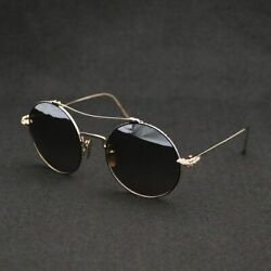 Pre-owned Chrome Hearts Sunglasses Prawn Queen Double Bridge Round Frame