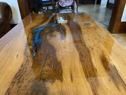 Blue Epoxy Resin Coffee Table Red Oak Local Pick Up