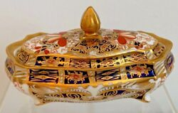 Rare Royal Crown Derby 2451 Traditional Imari Covered Box - Date Code 1914
