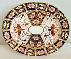 Royal Crown Derby 2451 Or Traditional Imari Oval Platter - Date Code 1913