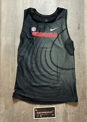 Nike Georgia Dogs Team Issued Track And Field Singlet Sz Xxl Men's Made In Usa