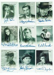 Twilight Zone Rittenhouse Archives Autograph Card Selection - Various All Series