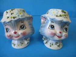 Lefton Miss Priss Salt And Pepper Excellent No Chips Combine Shipping No Stoppers