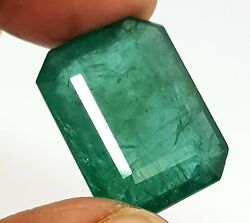 19.73 Ct Natural Zambia Rich Green Color Amazing Lusted Emerald Cut Loose Gems