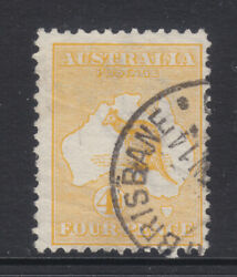 Roo 4d Orange-yellow 1st Wmk Sound Used And Scarce Shade.