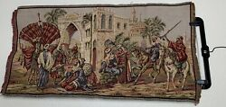 Vintage Tapestry made in ITALY Middle Eastern Scene Camel Horses