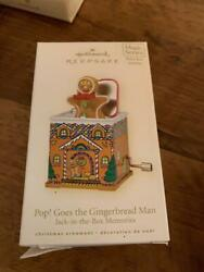 Hallmark Ornament Pop Goes The Gingerbread Man Jack-in-the Box Memories 2008