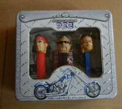 Pez Collection Orange County Choppers Collector Set In Metal Box - Unopened